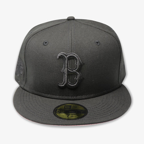 "BOSTON REDSOX (2004 WS ""BLACKOUT SERIES"") NEW ERA 59FIFTY FITTED (PINK BOTTOM)"