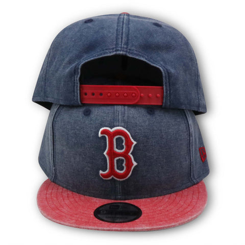BOSTON REDSOX CANVAS WASH 9FIFTY NEW ERA SNAPBACK