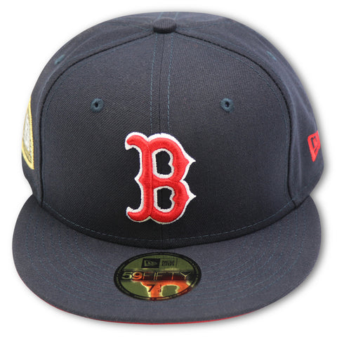 BOSTON REDSOX TITLE TRIM NEW ERA 59FIFTY FITTED