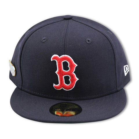 REDSOX 2004 WORLDSERIES PIN NEW ERA 59FIFTY FITTED (GREEN BRIM)