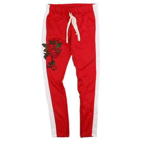 EPTM TECHNO (RED/WHITE) TRACK PANTS ROSE