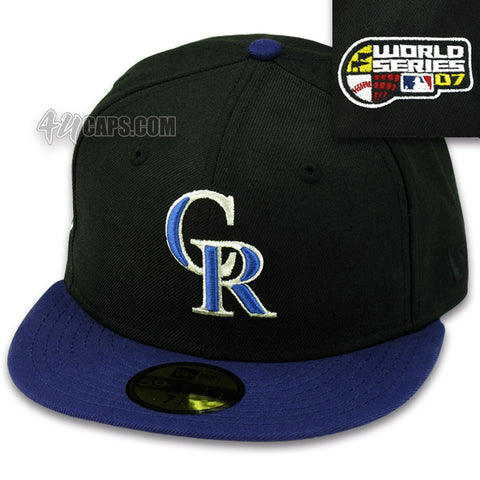 COLORADO ROCKIES NEW ERA 59FIFTY FITTED 2007 WORLD SERIES FITTED (GRAY UNDER BRIM)