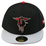 TEXAS TECH RED RAIDERS NEW ERA FITTED (AIR JORDAN 5 RETRO BLACK METALLIC)