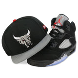 SAN ANTONIO RAMPAGE NEW ERA 59FIFTY FITTED (AIR JORDAN V RETRO BLACK METALLIC)