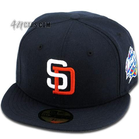 SAN DIEGO PADRES 1998 WORLD SERIES NEW ERA 59FIFTY FITTED (GREY BRIM ... 73e9d9dfdfe