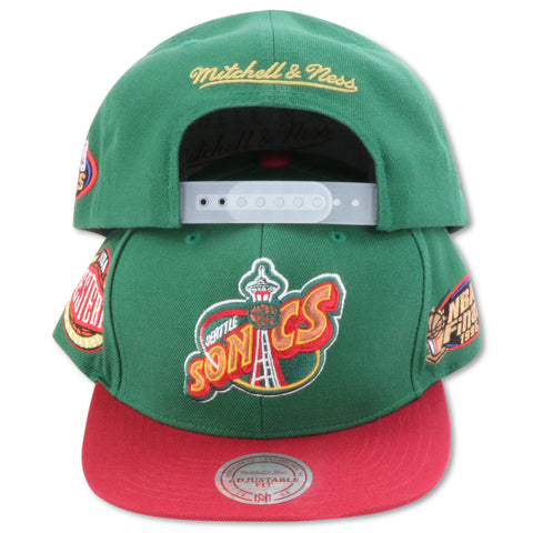 SEATTLE SUPERSONICS 1996 FINALS MITCHELL & NESS  SNAPBACK (086VZ)