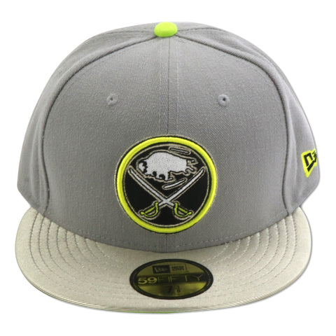 BUFFALO SABRES NEW ERA 59FIFTY (SILVER/VOLT FOAMS)