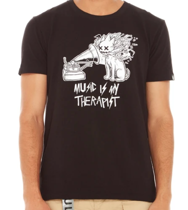 CULT THERAPIST BLACK TEE