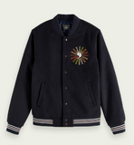 SCOTCH&SODA Wool-blend artwork BOMBER JACKET