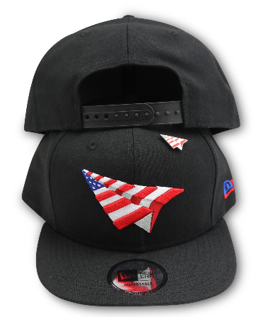 PAPER PLANES  BLACK AMERICAN DREAM CROWN SNAPBACK (WITH PIN)