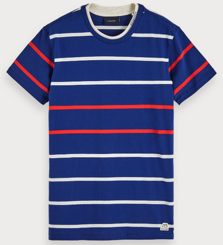 SCOTCH&SODA BASIC STRIPE TEE