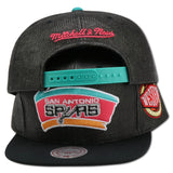 SAN ANTONIO SPURS STRAW SNAPBACK BY MITCHELL & NESS (SPURS-202AZ005)