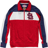 ST.LOUIS CARDINALS MITCHELL & NESS HOME STAND TRACK JACKET