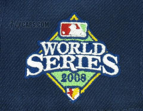 timeless design 508b0 e8d56 TAMPA BAY RAYS 2008 WORLD SERIES NEW ERA 59FIFTY FITTED PATCH