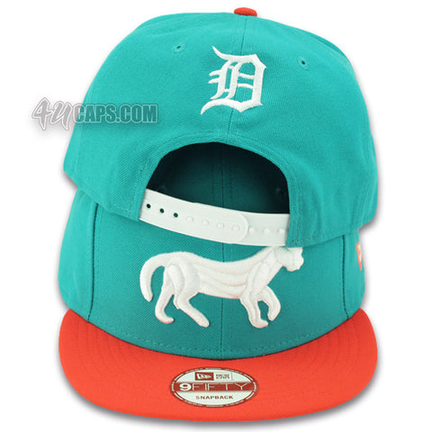 DETROIT TIGERS NEW ERA 9FIFTY SNAPBACK (TEAL / INFRARED)