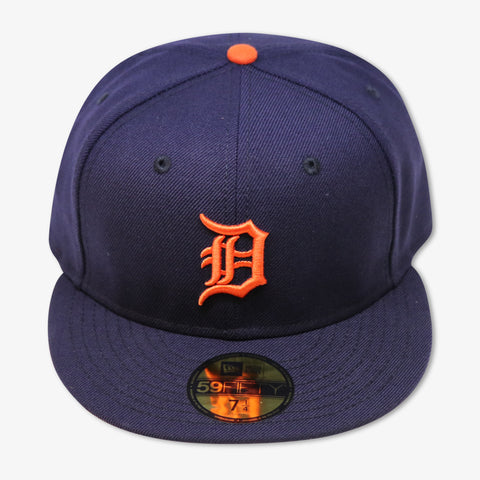 DETROIT TIGERS NEW ERA 59FIFTY FITTED (NAVY/ORANGE)