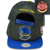 GOLDEN STATE WARRIORS BLACK STRAW SNAPBACK BY MITCHELL & NESS (204AZ BLK)