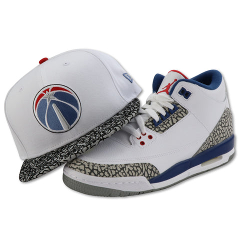 WASHINGTON WIZARDS NEW ERA 59FIFTY FITTED (AIR JORDAN 3 RETRO TRUE BLUE)