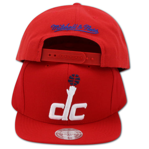 WASHINGTON WIZARDS DC-LOGO MITCHELL & NESS  SNAPBACK (NL99Z-TSC)
