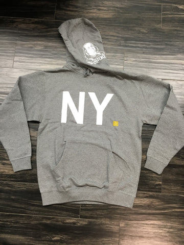 TRU-STORY NEW YORK PERIOD! GREY HOODY (AIR JORDAN 12 RETRO DARK GREY)