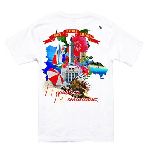"PAPER PLANES GLOBAL WARNING ""D.R"" WHITE TEE"