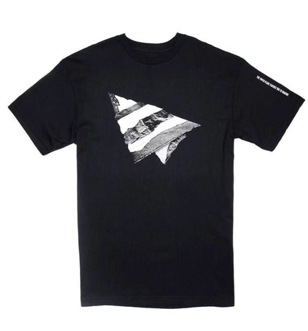 PAPER PLANES RIP AND REPAIR BLACK TEE