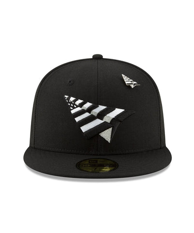 PAPER PLANES (BLACK/WHITE) THE ORIGINAL CROWN FITTED (GREEN BOTTOM)