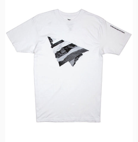 PAPER PLANES RIP AND REPAIR WHITE TEE