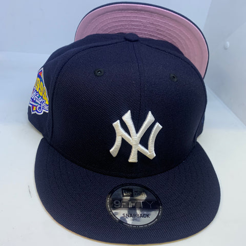 "NEW YORK YANKEES 1999 WORLD SERIES ""PINK-UNDER"" NEW ERA 9FIFTY SNAPBACK"