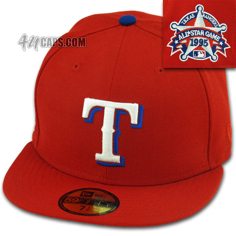 TEXAS RANGERS NEW ERA 59FIFTY FITTED 1995 ALL STAR GRAY UNDER BRIM