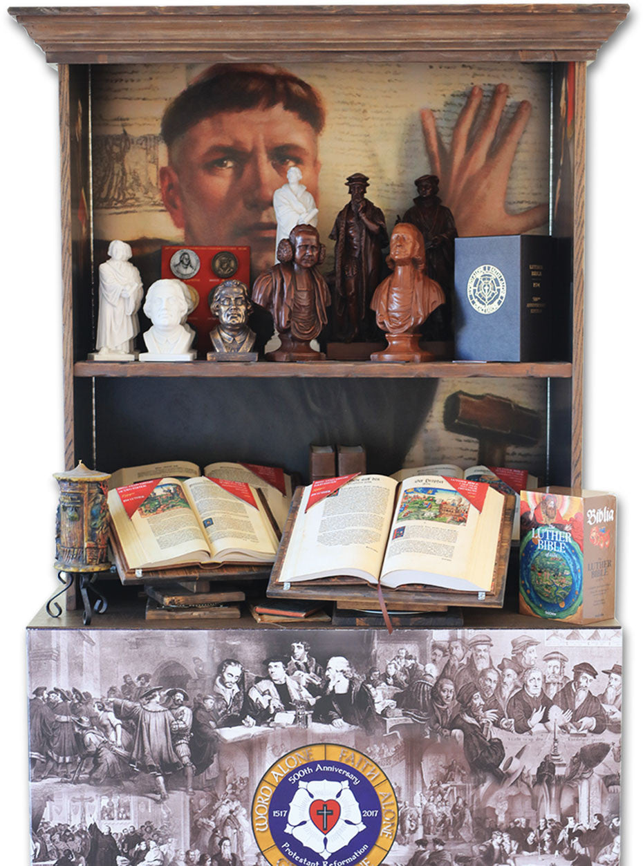 Front of Luther Bible Display