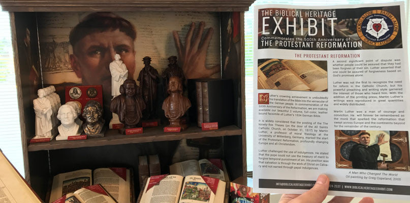 Luther Display with Newsletter