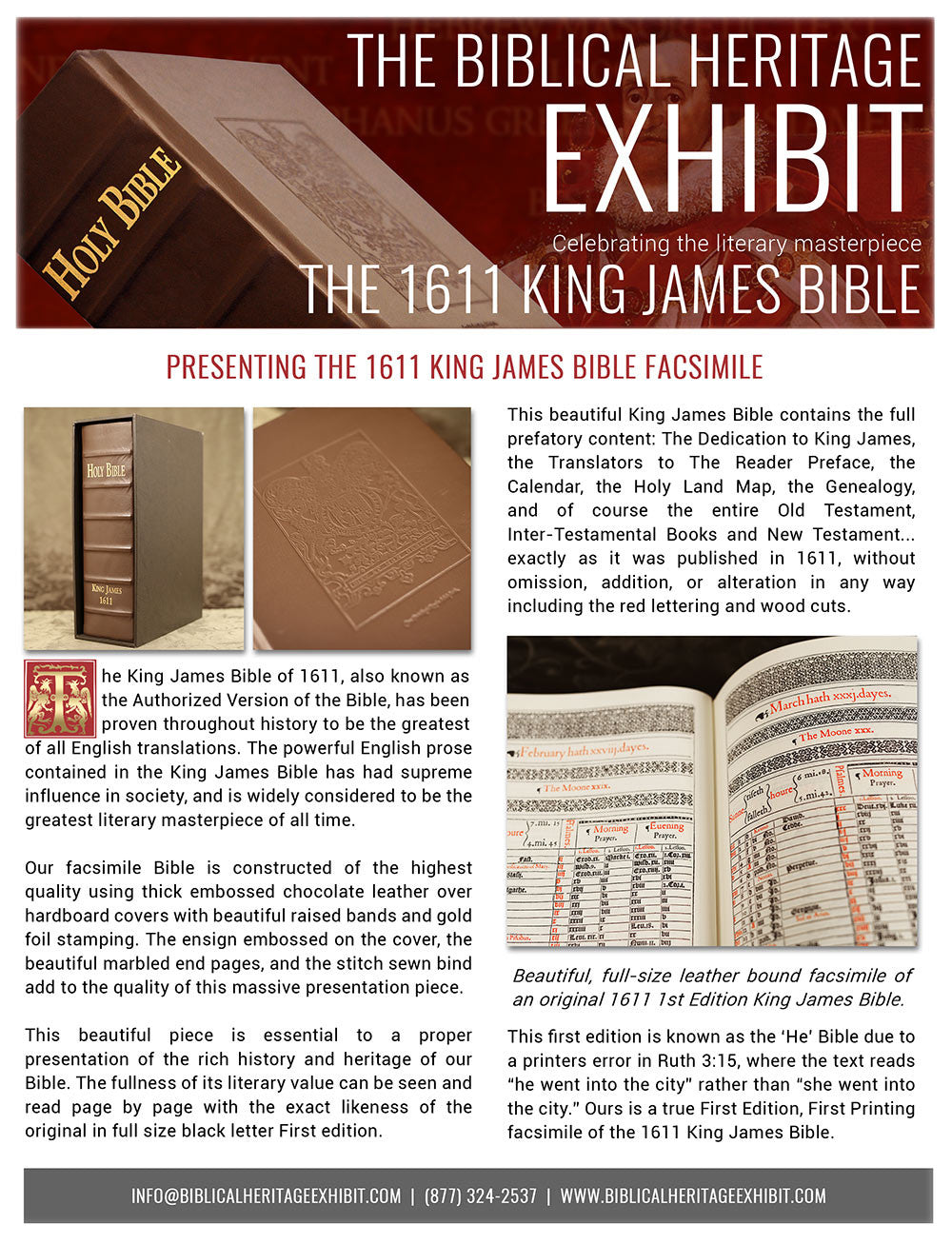 King James Bible - newsletter page 1
