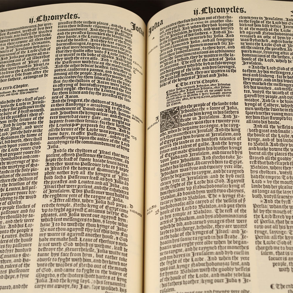 Great Bible - 1539 Facsimile Carroll Revelation Vino (Burgundy) Leather