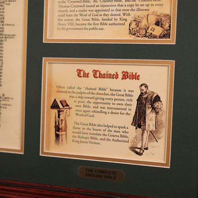 The Great Bible 20 x 24 Wall Display