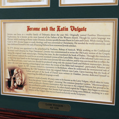 The Latin Vulgate 16 x 20 Wall Display