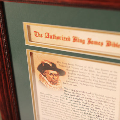 King James Bible 20 x 24 Wall Display