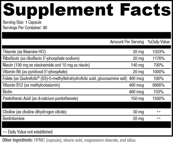 medical grade FEWL B-complex delivers 3x more active ingredients than competitors