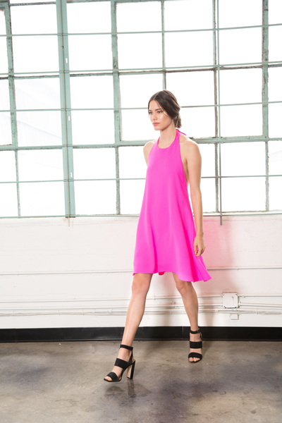 RORY DRESS - HOT PINK