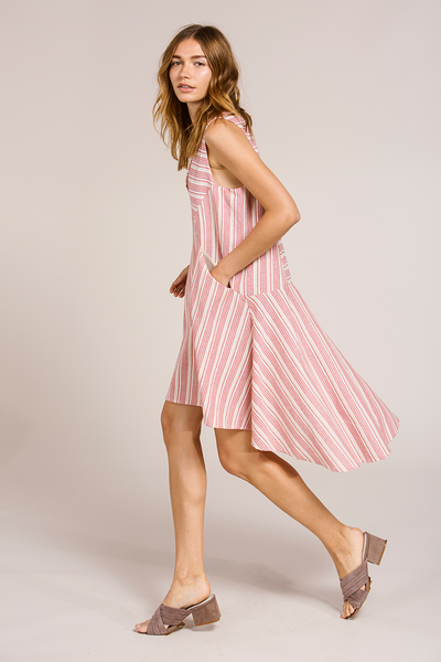 ASH DRESS - RED STRIPE
