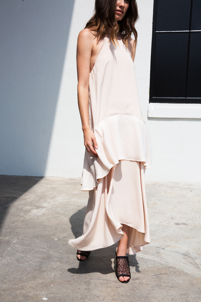 RHODES DRESS - BEIGE