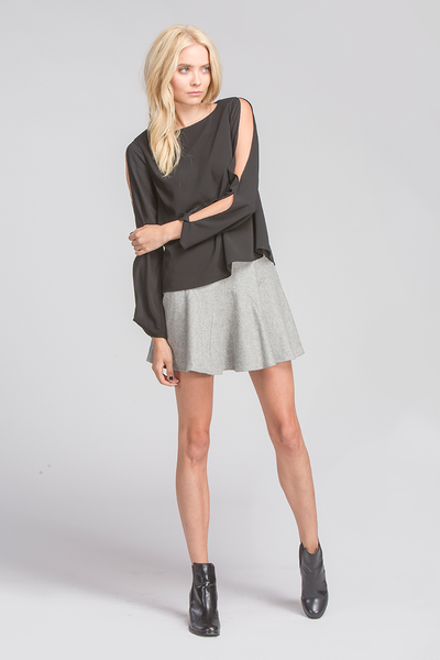 THEA TOP - BLACK