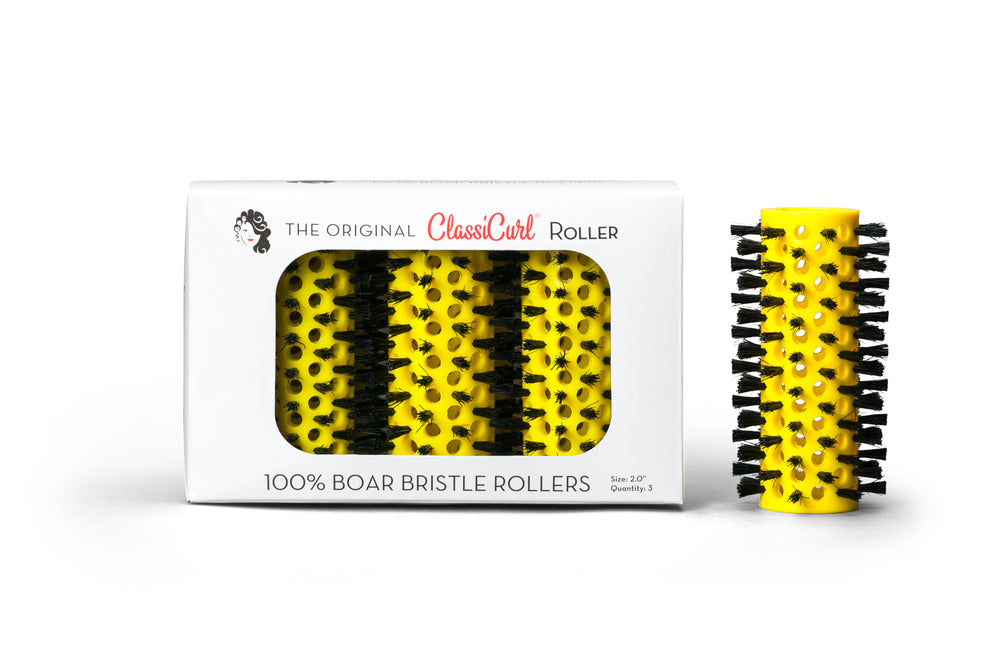 "The Original ClassiCurl Roller 2.0"" Yellow Qty 3"
