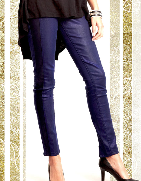 Coated Blue Tux Jeans
