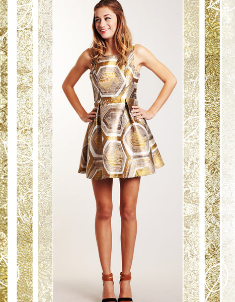 Golden Shift Dress