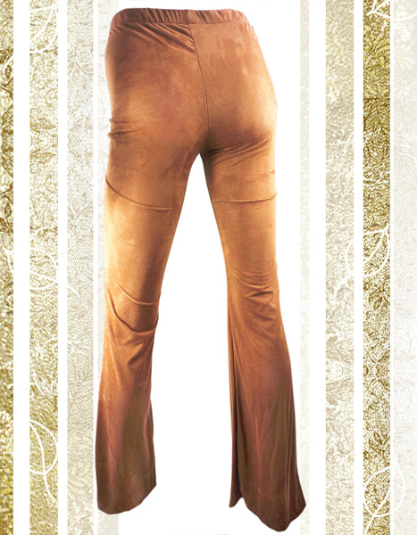 Camel Velvet Leggings