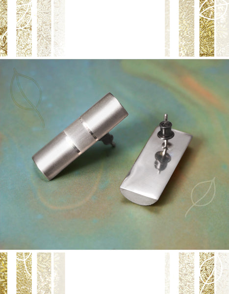 Cylinder Cut Earrings