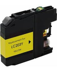 Compatible Brother LC203 High Yield Yellow Ink Cartridge (Brother LC203Y)