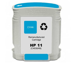 Remanufactured HP 11 Ink Cartridges (HP C4836AN Cyan)