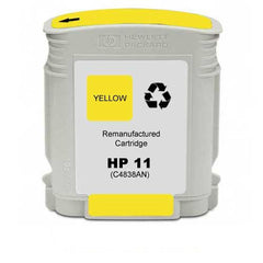 Remanufactured HP 11 Ink Cartridges (HP C4838AN Yellow)